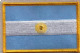 Argentina Embroidered Flag Patch, style 08.